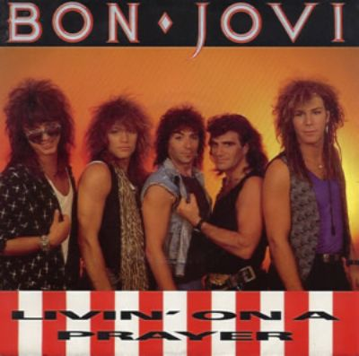 Bon Jovi Livin' On A Prayer album cover