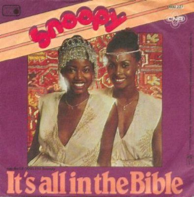 Snoopy It's All In The Bible album cover