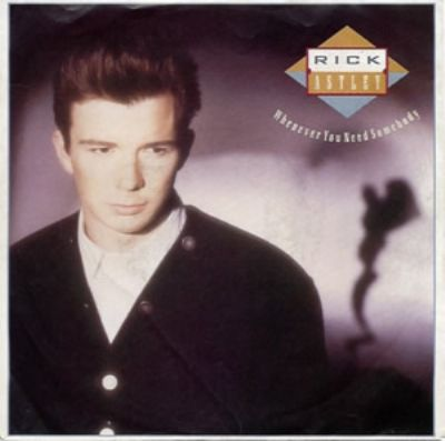 Rick Astley Whenever You Need Somebody album cover