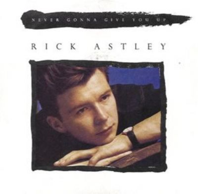 Rick Astley Never Gonna Give You Up album cover